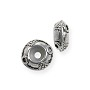 Bead Stopper with Circle Design 11x5mm Pewter Antique Silver Plated (1-Pc)