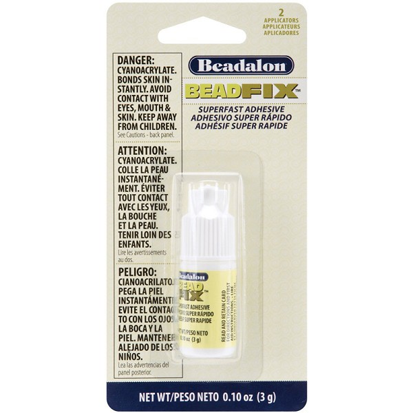 Beadfix Glue w/ 2 Precision Applicators