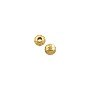 Corrugated Round Bead 3mm Gold Plated (10-Pcs)