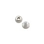Corrugated Round Bead 4mm Silver Plated (10-Pcs)