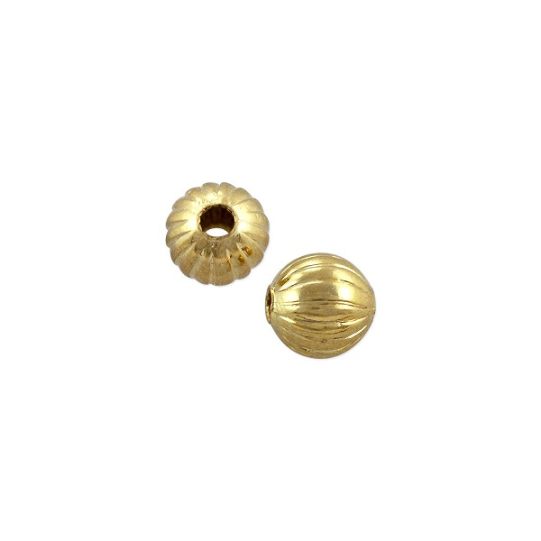 Corrugated Round Bead 4.5mm Gold Plated (10-Pcs)