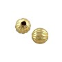 Corrugated Round Bead 6mm Gold Plated (10-Pcs)