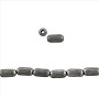 "Rice Heishi Bead 4x2mm Matte Silver Finish (24"" Strand)"