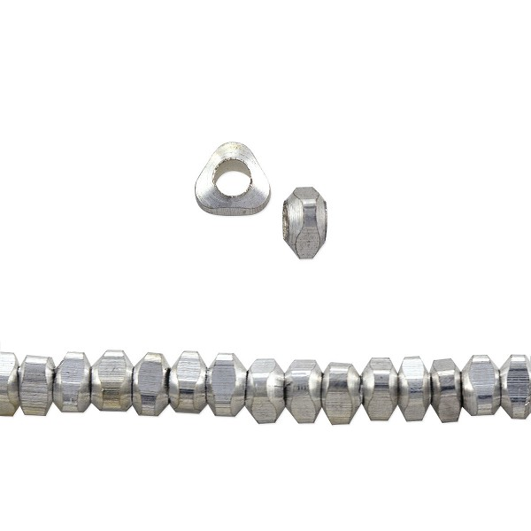 Triangle Heishi Beads 4x2mm Nickel Silver (10-Pcs)