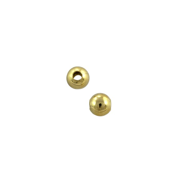Round Bead 3mm Gold Plated (10-Pcs)