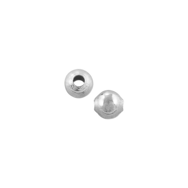 Round Bead 4mm Silver Plated (10-Pcs)