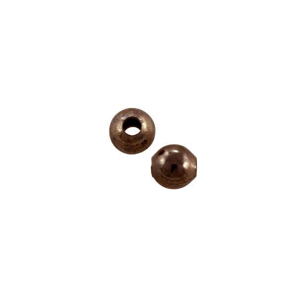 Round Bead 4mm Antique Copper Plated (10-Pcs)