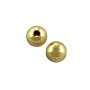 Round Bead 6mm Gold Plated (10-Pcs)