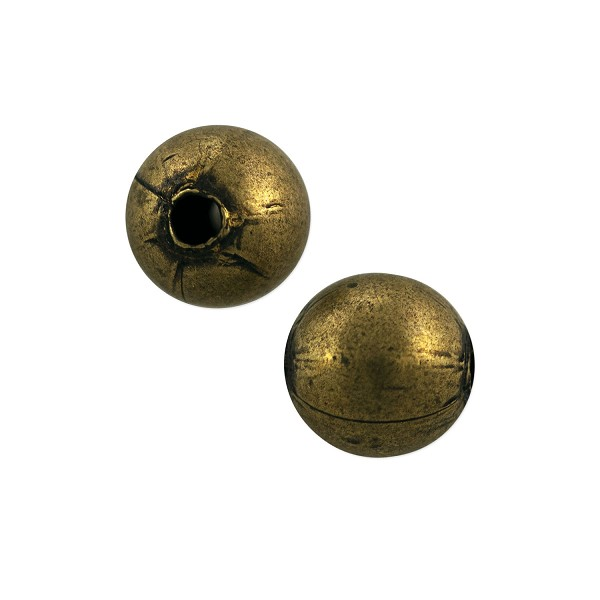 Round Bead 8mm Antique Brass Plated (10-Pcs)