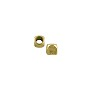 Rounded Cube Bead 3mm Brass (10-Pcs)
