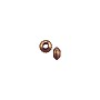 Faceted Edge Saucer Bead 3mm Antique Copper Plated (20-Pcs)