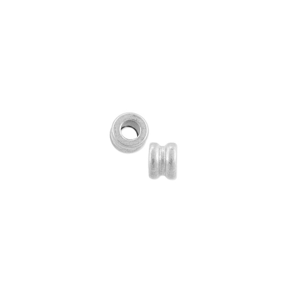 Spool Bead 2.5x3mm Nickel Silver (10-Pcs)