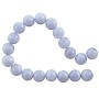 "Blue Lace Agate Round Beads 8mm (16"" Strand)"