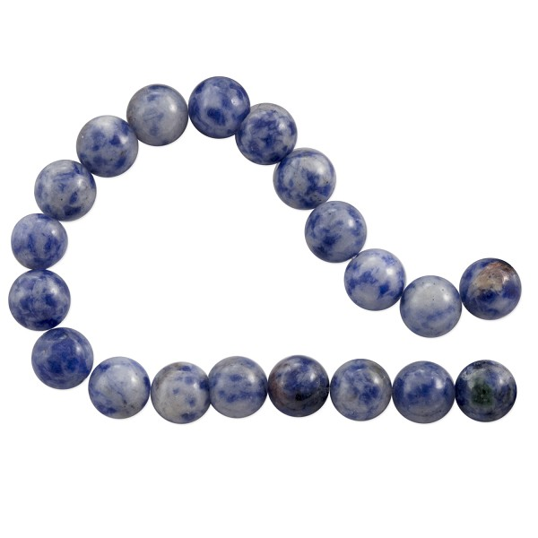 Denim Lapis Round Beads 8mm (15 Inch Strand)