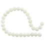 "Bleached Mother of Pearl Round Beads 6mm (15"" Strand)"