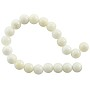 "Bleached Mother of Pearl Round Beads 8mm (15"" Strand)"