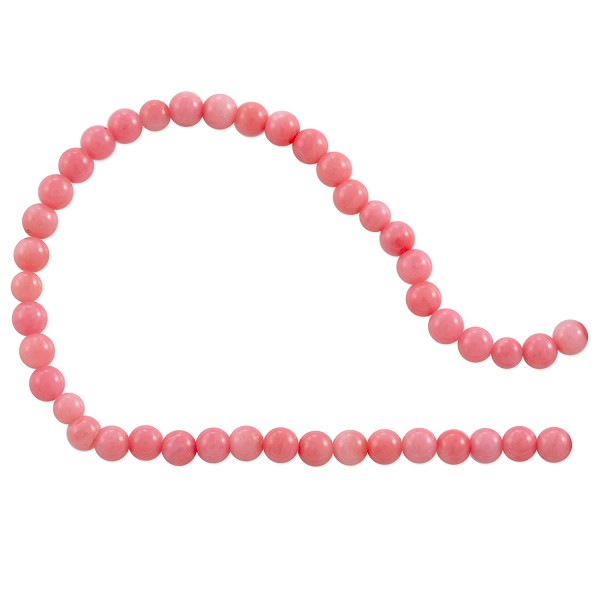 Dyed Pink Coral Round Beads 3.5-4mm (15 Inch Strand)