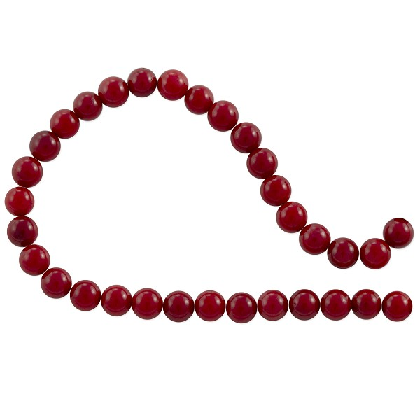 "Red Coral Round Beads 5-6mm (15"" Strand)"