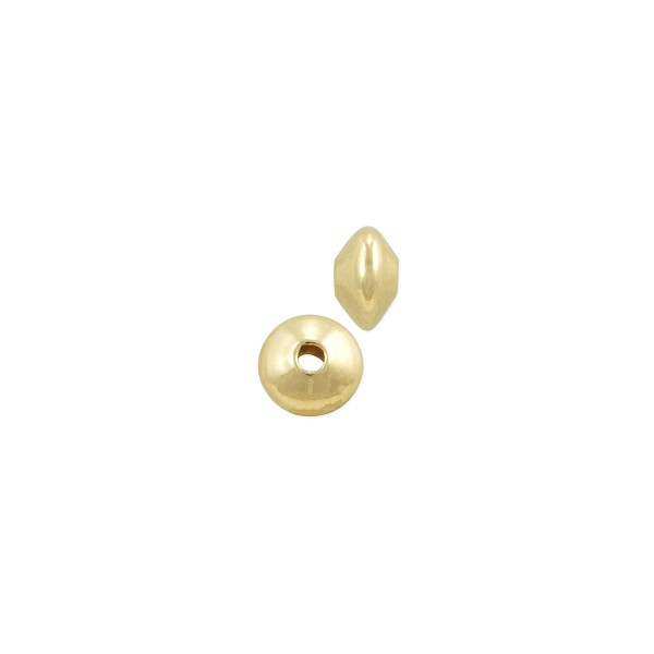 Saucer Bead 4x2.5mm Gold Filled (1-Pc)