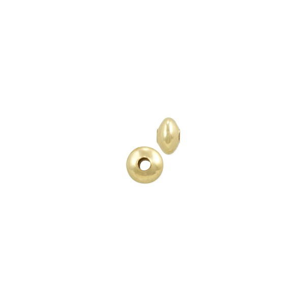Saucer Bead 3x2mm Gold Filled (1-Pc)