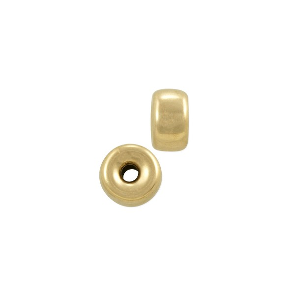 Rondelle Spacer Bead 4x2mm Gold Filled (1-Pc)