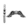 TierraCast Angel Wings Bead 21x7mm Pewter Antique Silver Plated (1-Pc)