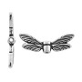 TierraCast Bead Dragonfly Wings 20x7mm Pewter Silver Plated (1-Pc)