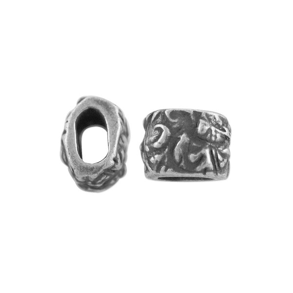 TierraCast Jardin Barrel Bead 7.8mm Antique Pewter  (1-Pc)