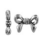 TierraCast Bow Bead 10mm Pewter Antique Silver Plated (1-Pc)