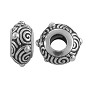 TierraCast Large Hole Spiral Bead 12x6mm Pewter Antique Silver Plated (1-Pc)