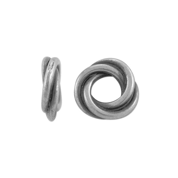 TierraCast Bead Twisted Spacer 8.75mm Pewter Antique Silver Plated (1-Pc)