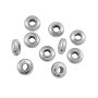 Disk Heishi 5x2mm Bright Nickel Silver (10-Pcs)