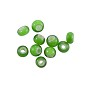 French White Heart Green Beads 3.5-4mm (10-Pcs)