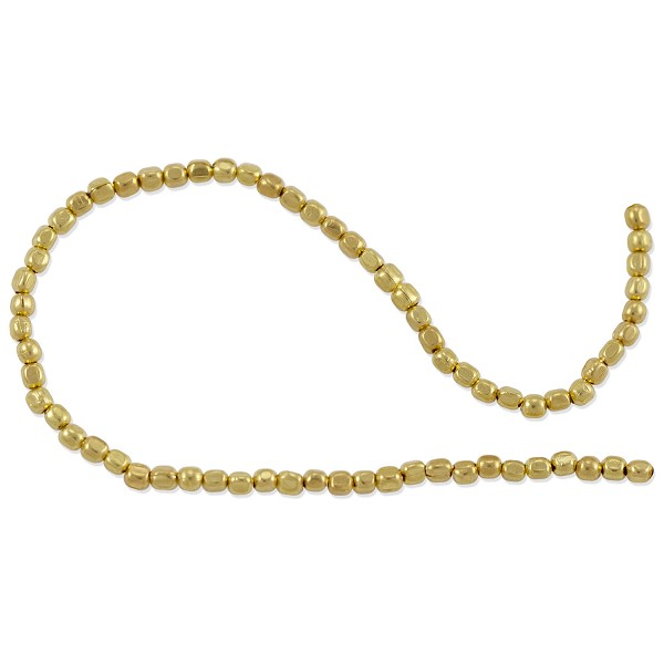 "Faceted Heishi 2mm Bright Brass (24"" Strand)"
