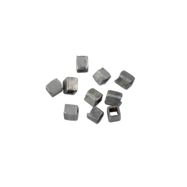 Heishi Rectangle Beads 3x2mm Antique Nickel Silver (10-Pcs)