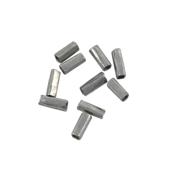 Heishi Rectangle Beads 6x2mm Antique Nickel Silver (10-Pcs)