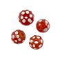 African Skunk Beads 12mm Red with White Spots (1-Pc)