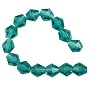 "Faceted Bicone 8mm Blue Zircon Crystal Beads (12"" Strand)"