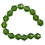 "Faceted Bicone 8mm Emerald Crystal Beads (12"" Strand)"