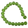 "Faceted Round 6mm Emerald Crystal Beads (14"" Strand)"