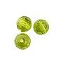 "Faceted Round 6mm Peridot Crystal Beads (14"" Strand)"