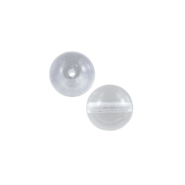 Czech Pressed Glass Round Beads 8mm Crystal (10-Pcs)