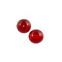 Czech Pressed Glass Round Beads 6mm Ruby (10-Pcs)