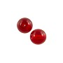 Czech Pressed Glass Round Beads 8mm Ruby (10-Pcs)
