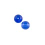 Czech Pressed Glass Round Beads 4mm Sapphire (10-Pcs)