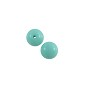 Czech Pressed Glass Round Beads 4mm Turquoise (10-Pcs)