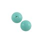 Czech Pressed Glass Round Beads 8mm Turquoise (10-Pcs)