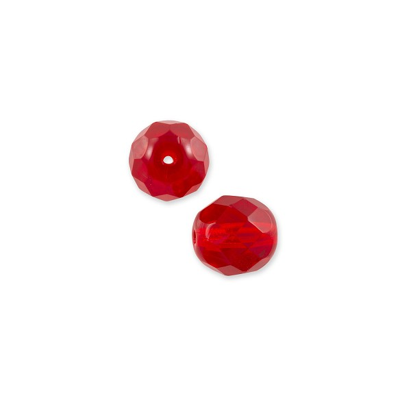 Czech Fire Polished Rounds 4mm Ruby (10-Pcs)