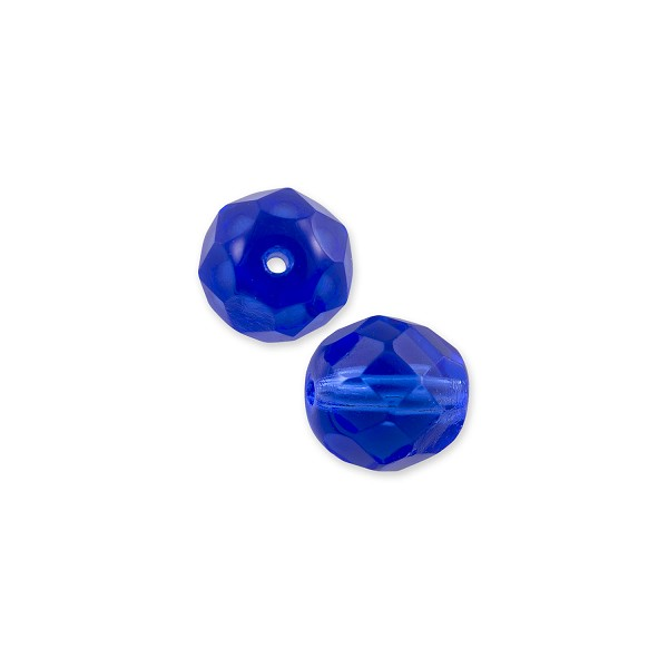 Czech Fire Polished Rounds 6mm Sapphire (10-Pcs)