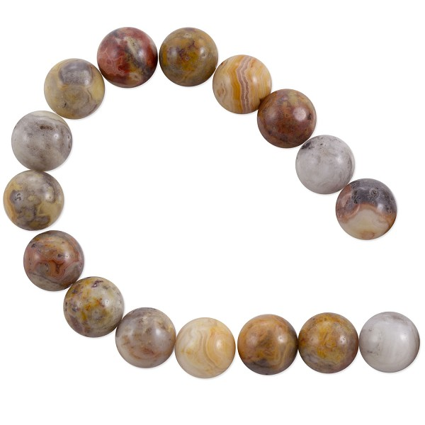 "Crazy Lace Agate Beads 8mm (15"" Strand)"